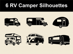 Rv Camper Vector Silhouettes | For download - graphicriver.n… | Flickr