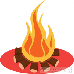 Camping Clipart- campfire-clipart-6227 - Classroom Clipart