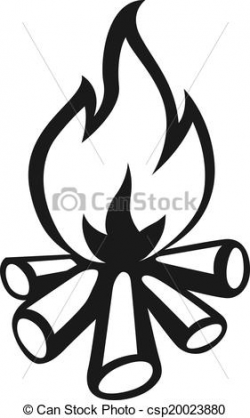 campfire clipart black and white 5 | Clipart Station