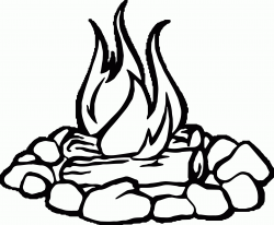 Campfire black and white fire pit clipart cliparts others art ...