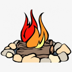 Campfire Clipart Svg - Transparent Background Fire Clip Art ...