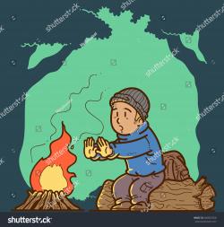Bonfire clipart warmth - Pencil and in color bonfire clipart warmth