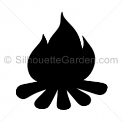 Campfire silhouette clip art. Download free versions of the image in ...