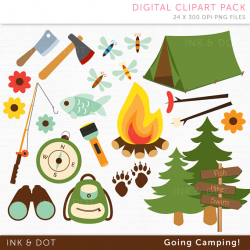 Camping Clipart Fathers Day Clipart Tent Fishing Hiking