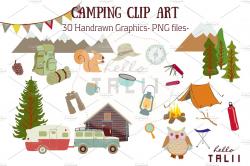 Camping Clip Art ~ Illustrations ~ Creative Market