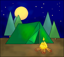 Camping Scenes Free Clipart