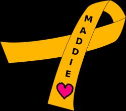 Ribbon For Childhood Cancer Clip Art at Clker.com - vector clip art ...
