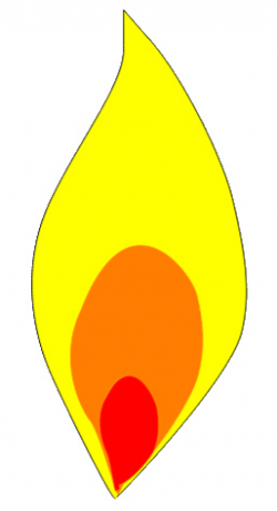 Blue Candle Flame Clipart