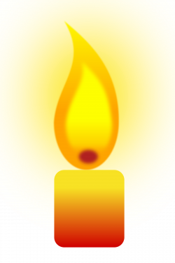 Clipart - Burning Candle