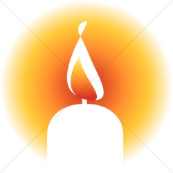 Brightly Lit Candle Clipart | Religious Christmas Clipart