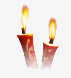 Lighted Candles, Red Candle, Lighted Red Candles, Festive Candle PNG ...