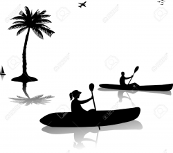 Kayak Silhouette Clip Art at GetDrawings.com   Free for personal use ...