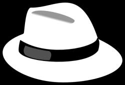 hat clip art black and white | White Hat clip art - vector ...