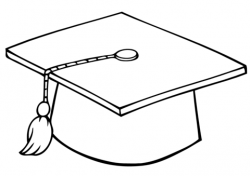 Graduate Cap coloring page | Free Printable Coloring Pages
