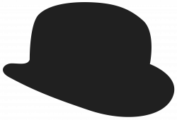 Bowler Hat Silhouette at GetDrawings.com | Free for personal use ...