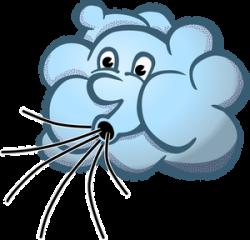 Vector image of blue Mr Wind cloud | CHILDREN'S WORSHIP | Pinterest ...