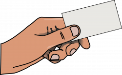 Clipart - hand with card