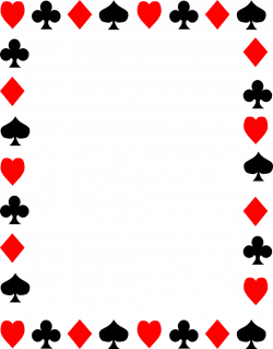Playing Cards Borders Clipart