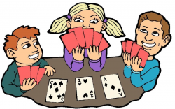 People Playing Cards Clipart