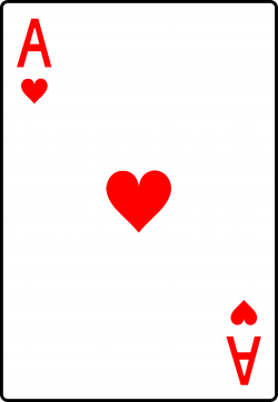 Ace of Hearts Playing Card - Free Clip Art