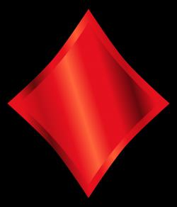 Clipart - Diamond suit symbol