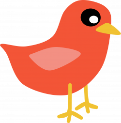 Clipart - Red Bird