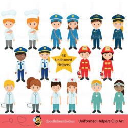 Community Helpers Clipart, Community Clipart,Career Day Clipart ...