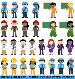 People Clipart Clip Art Includes Character Career Teacher