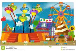 Fun Fair Background Clipart