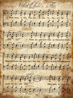 In the Victorian era Carolers would stop at houses to sing. (I think ...