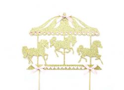 Gold Glitter Carousel Horse Cake Topper Horse cake topper