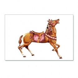 Underwater Carousel Horse Pictures To Color Craft Template ...