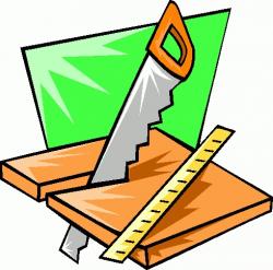 Carpenter Tools Clipart - Letters