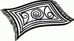 Rug Black And White Clipart - Rug Designs