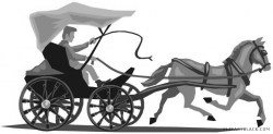 Horse and Carriage Clipart - ClipartBlack.com