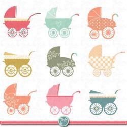 Baby Stroller Clipart