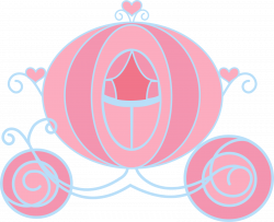 Carriage clipart princess birthday - Pencil and in color carriage ...