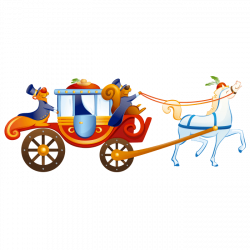 Wizards and Princesses Wall Stickers for Kids, Royal Carriage Sticker