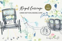 Watercolor Royal Carriage Clipart, Brit | Design Bundles
