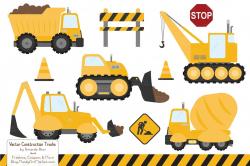Sunshine Construction Trucks ~ Illustrations ~ Creative Market