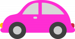 pink-toy-car-clipart.png (4916×2605) | Carritos y transporte ...