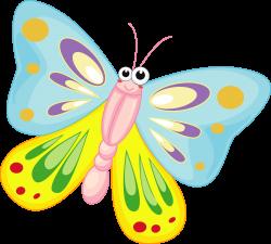 Clipart - Cartoon Butterfly