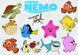 Finding Nemo clipart SVG cut file 300 PPI