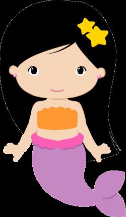 sereia calda lilas morena | cartoon | Pinterest | Mermaid, Clip art ...