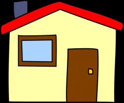 Simple Cartoon House Clip Art at Clker.com - vector clip art online ...