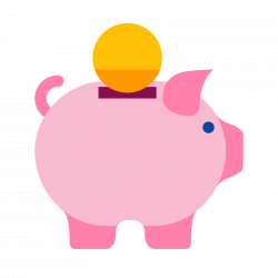 Cute Piggy Bank Clipart | Free download best Cute Piggy Bank Clipart ...