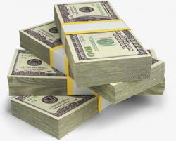 A Stack Of Dollar Bills, Dollar, Banknote, Dollars PNG Image and ...