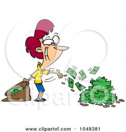 Spending Cash Clipart