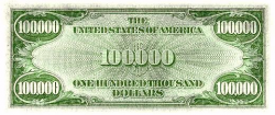 Photos of United States paper money bank notes