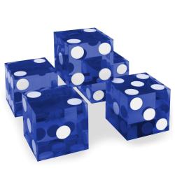 Amazon.com : Set of 5 Grade AAA 19mm Casino Dice with Razor Edges ...